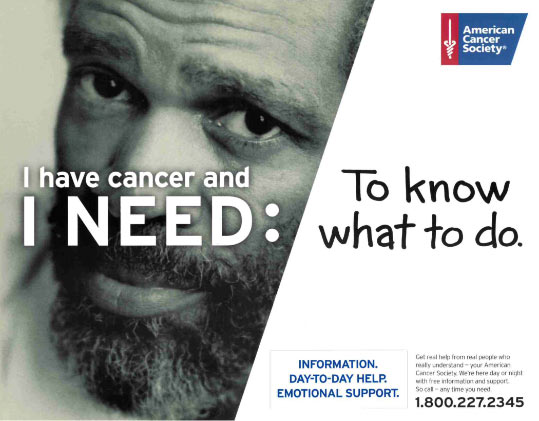 American Cancer Society - Know What to Do poster