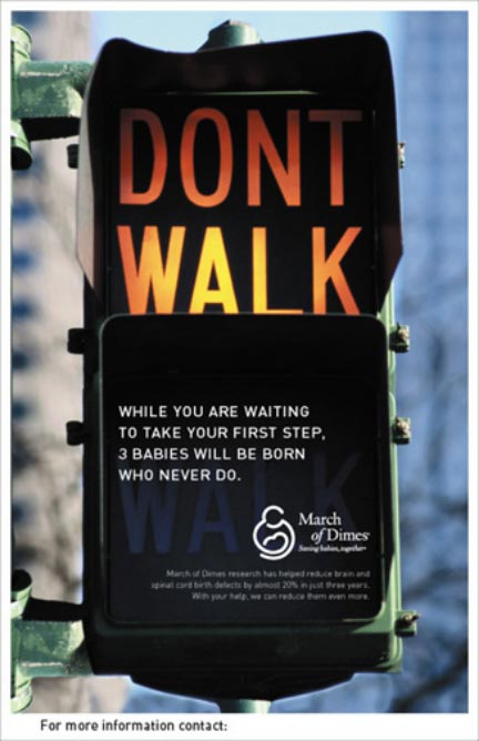 March of Dimes - Walk Sign poster
